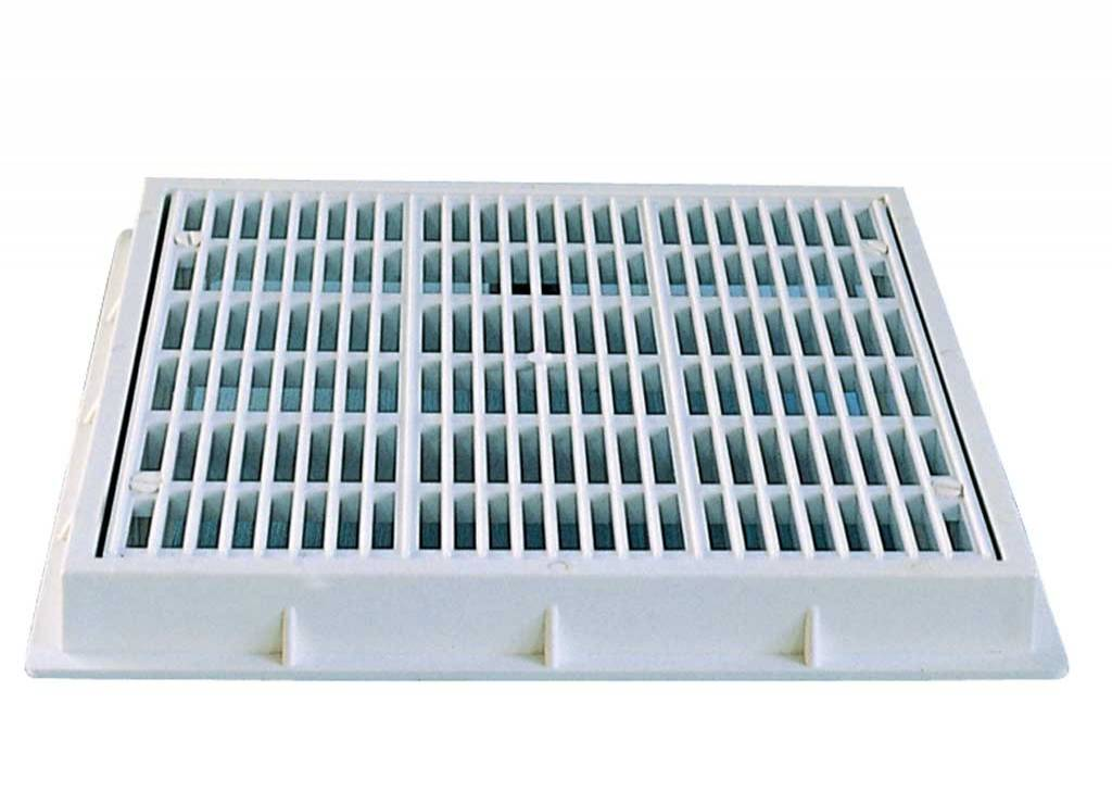 Squared Grilles for Main Drain for Concrete Pools