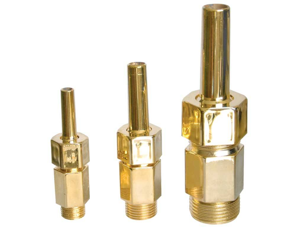 Finger Nozzles - Plastic/Golden Plated - Adjustable