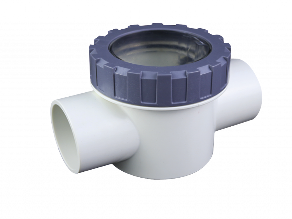 PVC Wafer Swing Check Valve - With Transparent Cover and Spring